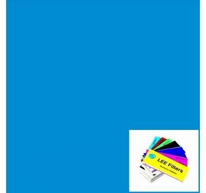 """Lee 722 Bray Blue Lighting Gel 21"""" x 24"""""""