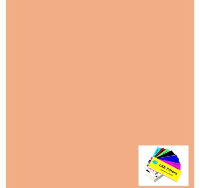 "Lee 775 Soft Amber Key 2 Lighting Gel Sheet 21""x24"""