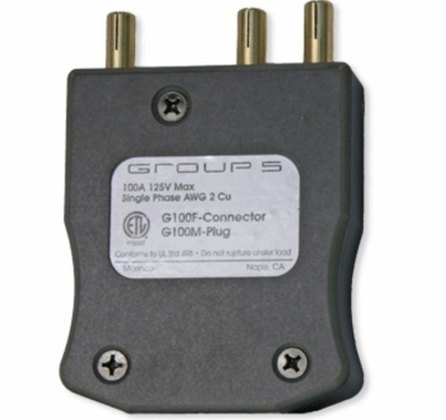 Lex 100A 120VAC Male Stage Pin 100 Amp Inline Plug  G100M