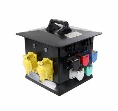 Lex 200 Amp 3 Phase Pagoda to California 50 Amp Locking Receptacles Distro Box