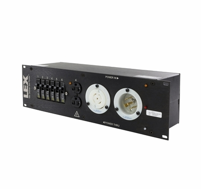 Lex 30 Amp 3RU Enclosed Rack, L21-30 to Duplex Receptacles