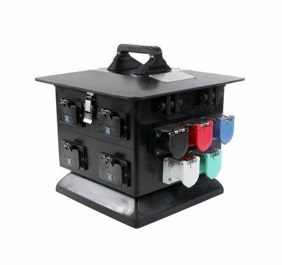 Lex Products Outdoor 100A Cam Distro Box w/ (12) 20A GFCI Duplex