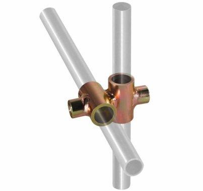 "Modern 5/8"" Diameter Rod Cross Fitting"