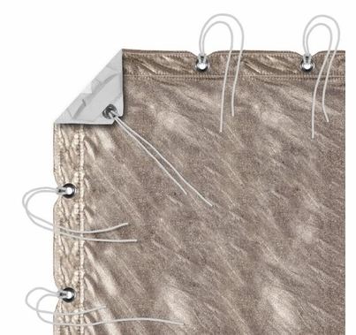 Modern Studio 12' x 20' Gold/White Lame with Bag