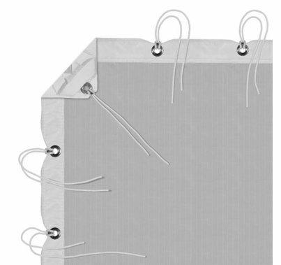 Modern Studio 12' x 20' Silent/Sail 1/4 Grid Cloth with Bag