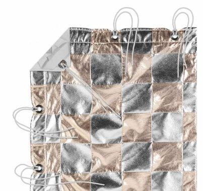Modern Studio 12' x 20' Silver/Gold (Checker Pattern) with Bag