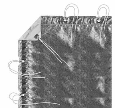 Modern Studio 12' x 20' Silver/White Lame with Bag
