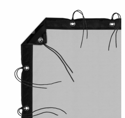 Modern Studio 6' X 6' 1/4 Stop Silk (Artificial Black) With Bag