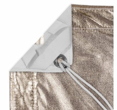 Modern Studio 8'x8' Gold/White Lame with Bag