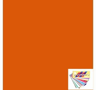 "Rosco E Colour 158 Deep Orange Lighting Gel Sheet 21""x24"""