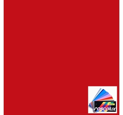 "Rosco Roscolux 120 Red Diffusion Gel Filter Sheet 20""x24"""