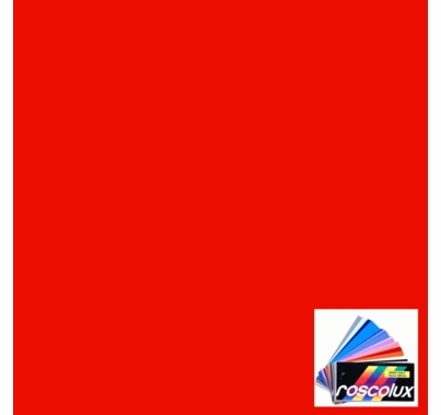 Rosco Roscolux 24 Scarlet Gel Filter Sheet