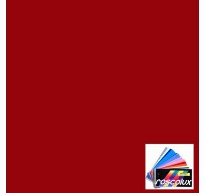 "Rosco Roscolux 27 Medium Red 6"" x 6"" Gel Cut"