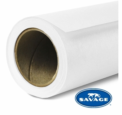 "Savage Super White Seamless Paper 140"" x 35 Yards"