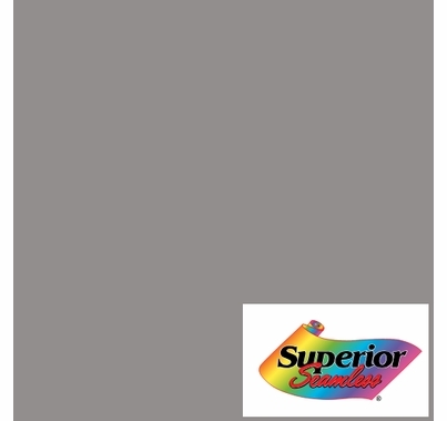 """Superior 43 Dove Grey Seamless Paper 107"""" x 36 yds"""