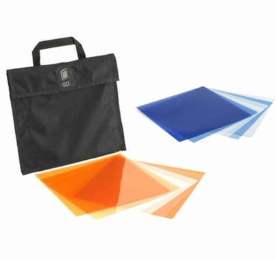 1x1 Bi-Color (6) Piece CTO/CTB Gel Set w/ Bag 900-3002