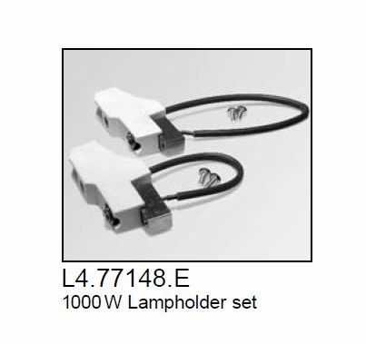 Arri Arrilite 1000 Open Face Lamp Socket, Part L4.77148.E
