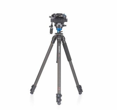 Benro Carbon Fiber Video Camera Tripod Kit S6 Head