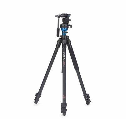 Benro Video Tripod Kit S2 Head Aluminum Flip Lock Legs