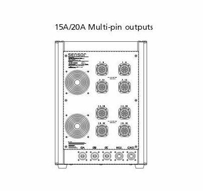 ETC Sensor3 Portable Dimmer  24 Channel 20A (8) Multi-Pin