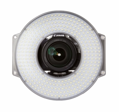 F&V R300 LED Daylight Ring Light On Camera w/ 15mm Rail Mount