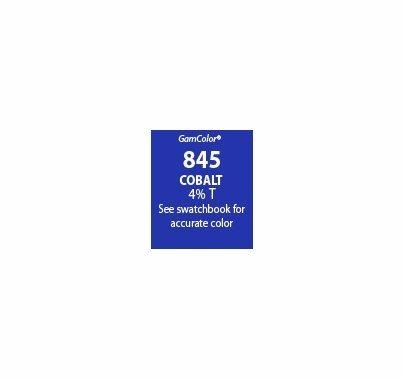 """GAM GAMcolor 845 Cobalt  Lighting Gel Filter Sheet 20""""x24"""""""