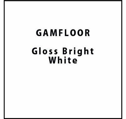 "GAM GAMFLOOR Gloss Bright White Temporary Vinyl Floor 48"" x 50ft"