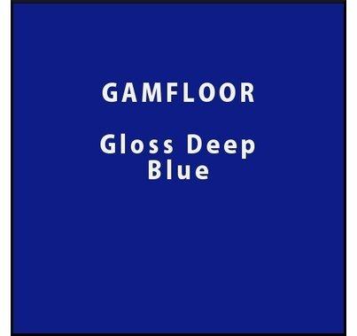 "GAM GAMFLOOR Gloss Deep Blue Temporary Vinyl Floor 48"" x 50ft"