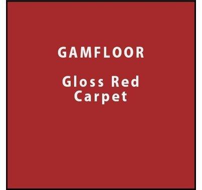 """GAM GAMFLOOR Gloss Red Carpet Vinyl Floor 48"""" x 50ft"""