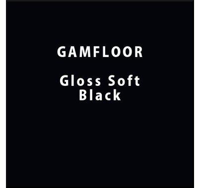 """GAM GAMFLOOR Gloss Soft Black Temporary Vinyl Floor 48"""" x 50ft"""