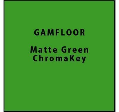 """GAM GAMFLOOR Matte Green ChromaKey Vinyl Floor 48"""" x 50ft"""