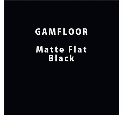 "GAM GAMFLOOR Matte Soft Black Temporary Vinyl Floor 48"" x 50ft"