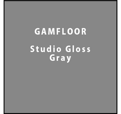 "GAM GAMFLOOR Studio Gloss Gray Temporary Vinyl Floor 48"" x 50ft"