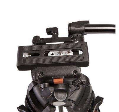 Ikan E-Image Tripod Kit 2 Stage Aluminum Legs, GH03 Fluid Head