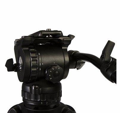 Ikan E-Image Tripod Kit 2 Stage Aluminum Legs, GH06 Fluid Head
