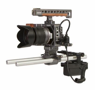 Ikan Tilta Rig & Dual Rod Mount DV Power Kit  - Sony L