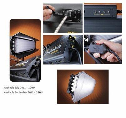 Kino Flo Tegra 4Bank  DMX Fluorescent Universal Light Kit w/ Soft Case