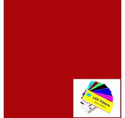 "Lee 026 Bright Red Lighting Gel Filter Sheet 21""x24"""