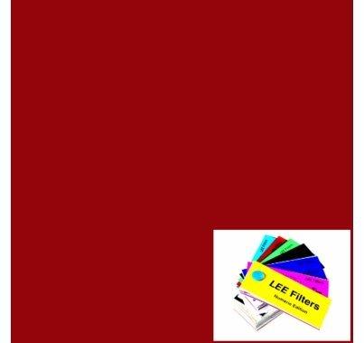"Lee 027 Medium Red Gel Filter Sheet 21""x24"""