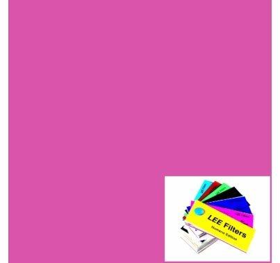 "Lee 048 Rose Purple Lighting Gel Filter Sheet 21""x24"""