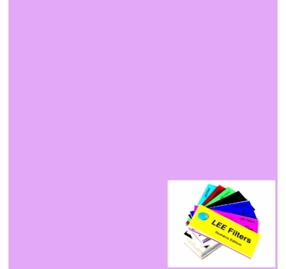 "Lee 052 Light Lavender Lighting Gel Filter Sheet 21""x24"""