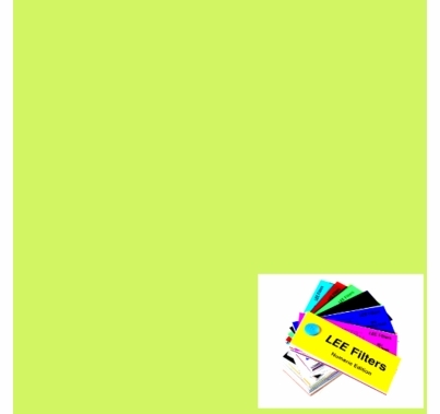 "Lee 088 Lime Green Lighting Gel Filter Sheet  21""x24"""