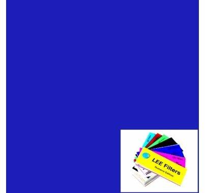 "Lee 120 Deep Blue Lighting Gel Sheet 21""x24"""