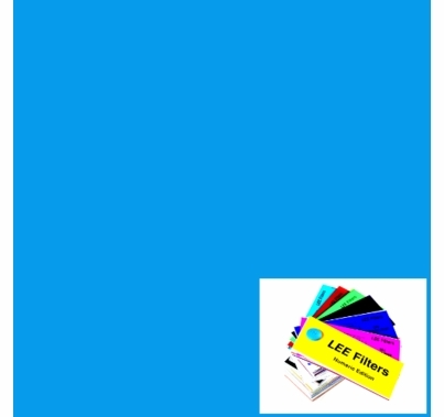 "Lee # 141 Bright Blue Lighting Gel Filter Sheet 21x24"""