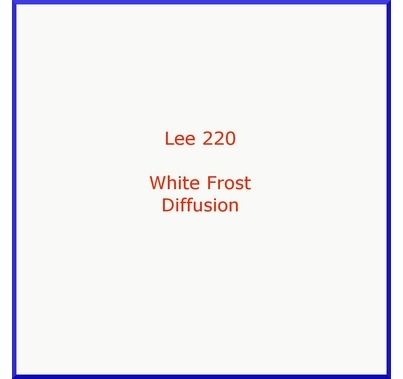 "Lee 220 White Frost Diffusion Lightin Gel Filter Sheet 21""x24"""