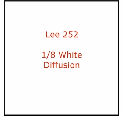 "Lee 252 Eighth White Diffusion Lighting Gel Filter Sheet  21""x24"""