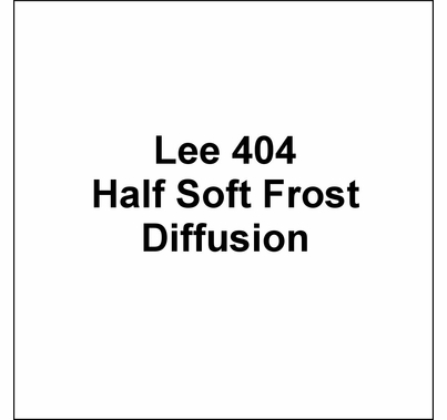 "Lee 404 Half Soft Frost Diffusion Lighting Gel Wide Roll 60""x20ft"