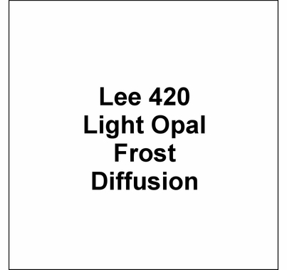 "Lee Filters 420 Light Opal Frost Diffusion Lighting Gel 48""x25'"