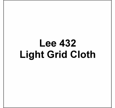 "Lee 432 Light Grid Cloth Diffusion Lighting Gel 54""x25'"