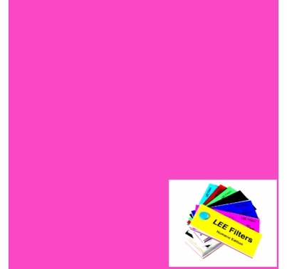 "Lee 795 Magical Magenta Lighting Gel Filter Sheet 21""x24"""
